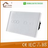 Interruttore materiale di vetro della parete dello schermo di tocco di nuovo disegno per la casa