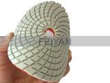 연한 색 돌을%s 터보 백색 다이아몬드 닦는 패드