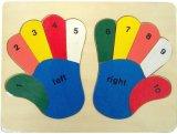 De houten Onderwijs het Leren Puzzel van het Stuk speelgoed (34678)