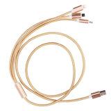 Nylon LED 3 Daten-Aufladeeinheits-Kabel USB-in-1 für iPhone Android