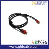 Chapado en oro 24k 10m de cable HDMI de alta calidad con trenzado Nylon 1,4 V (D002)