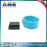 Silicone pulseiras reflexivo Slapband RFID com opções flexíveis de Aço Inoxidável