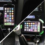 De auto Smartphone zet Houder 360 Rotable met Dubbele 2.1A Lader USB op