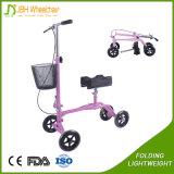 Scooter plegable de la rodilla con la cesta