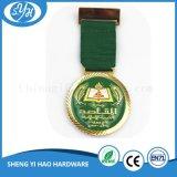 Medalla plateada plata antigua del metal 3D