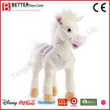 Projeto novo brinquedo ereto enchido do luxuoso do cavalo de Aniaml