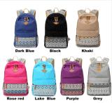 Sacs d'école de fille pour le sac à dos occasionnel mignon d'école de sac de Mochila Feminina de sac à dos de femmes de toile d'impression par points d'adolescents