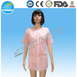 Desechable No tejido PP SMS Mf Lab Gown Lab Coat