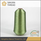 레이스 자수를 위한 일본 12mic 폴리에스테 금속 털실