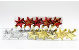 Ornamentos coloreados colgante inastillable de la estrella de la Navidad de Christmastree