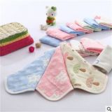 Toalla cuadrada del algodón con diversos colores y diseños