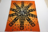 Cobertor polar impresso do velo do poliéster/cobertor do nativo americano