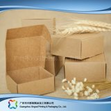 Kraft 종이 평지에 의하여 포장되는 폴딩 포장 보석 선물 상자 (xc-pbn-021b)