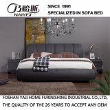 贅沢な古典的な様式のコーヒーカラー革ベッドの家具Fb3079