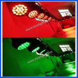 Indicatore luminoso capo mobile di cerimonia nuziale dello zoom 19PCS*12W della strumentazione LED della fase