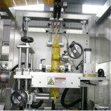 De automatische Dubbele Hoofden om de Vierkante Fles van Labeler van de Fles krimpen de Machine van de Etikettering van de Koker