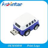 Mini bastone di plastica del USB del modello dell'automobile del bus dell'azionamento dell'istantaneo del USB