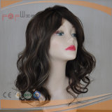 Tipo de venda quente cheio peruca bonita do cabelo humano do laço das mulheres