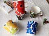Tazze di ceramica di vendita calde di natale stampate abitudine con il contenitore di regalo