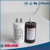 Cbb60 Wechselstrommotor-Läufer-Kondensator-weißer SHplastikkondensator