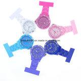 Moda Enfermeira Médicos Clip de fixação na lapela Broche Fob plástico relógios de bolso