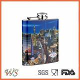 Impression de couleur entière de flacon Hip d'acier inoxydable de DSC_0051 6oz