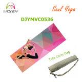 Imagen modificada para requisitos particulares y estera micro impresa insignia de la yoga del ante del caucho natural