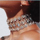 Collier van de Halsband van de Nauwsluitende halsketting van de Luxe van de Vrouwen van de Halsband van de Nauwsluitende halskettingen van het Bergkristal van de manier de Volledige Ruige Juwelen van de Verklaring