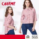 Dame-Form-Streifen gedrucktes Frauen-Hemd