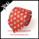 Dry-Clean Only Handmade Fashion Woven Red Silk Tie para homens
