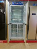 Il gelo libera un frigorifero dei 4 portelli con il codice categoria di energia di a+