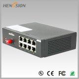 8개의 전기 포트와 1개의 Fx 접근 이더네트 네트워크 스위치