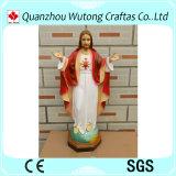 Statua su ordinazione del Jesus della resina della decorazione domestica