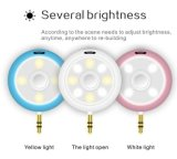 2-em-1 Selfie Light Beautify Photos Speaker, Portable Mini alto alto-falantes para telefones inteligentes Laptop