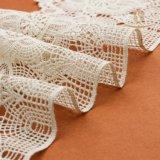 広州の工場特別なデザイン白いランジェリーの綿の女性かぎ針編みの綿の化学首のレース