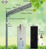 La vida po4 de la batería de LED inteligente solar integrada de la luz de la calle en una sola calle Solar LÁMPARA DE LED