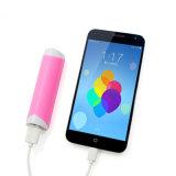 côté portatif de pouvoir de forme du coeur 2600mAh avec des accessoires de téléphone mobile de capacité totale