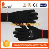 Ddsafety 2017 Nlyon noire en PVC noir Shell points demi-doigt transparente coton Gants de travail