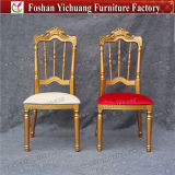 Yc-A344 Royal Napoleon Gold Wedding Throne Chairs with Removable Cushion for Sale