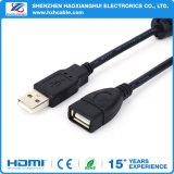 Macho a hembra de alta velocidad USB Cable de extensión con núcleo de ferrita