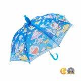 手動安全開いた子供のまっすぐな傘