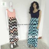 Hot vendre Ladies Beach Boho Maxi robe longue avec séquence imprimée