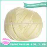 Preço orgânico por atacado tingido do fio de algodão 100 egípcio do fio de algodão