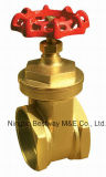 Materieller Bronzeabsperrschieber mit Griff-Rad