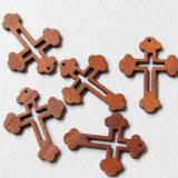 Met de hand gemaakt Houten Dwars, Godsdienstig Houten Dwars, Natuurlijk Klein Houten Kruis (iO-Cw001)
