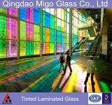 Vidro de segurança laminado Tempered colorido matizado para a balaustrada do edifício