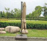Pare-soleil de jardin rocaille romain à 10 pieds, parasol à base croisée
