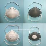 4 Masker van de Veiligheid van de vouw het Beschikbare met Actieve Koolstof en Klep