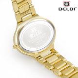Belbi Dame-Uhr-Form-eleganter Quarz-Uhr-ovaler Edelstahl-wasserdichte Legierungs-Uhr