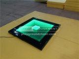 Plataforma transparente mágica do divertimento do elogio com luz do diodo emissor de luz